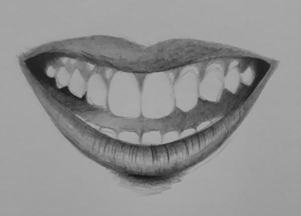 como desenhar dentes 8 - Como desenhar um dente realista - rápido, fácil e simples