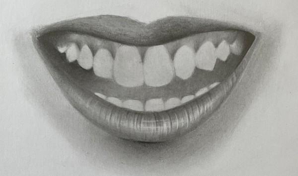 como desenhar dentes boca sorrindo - Como desenhar um dente realista - rápido, fácil e simples