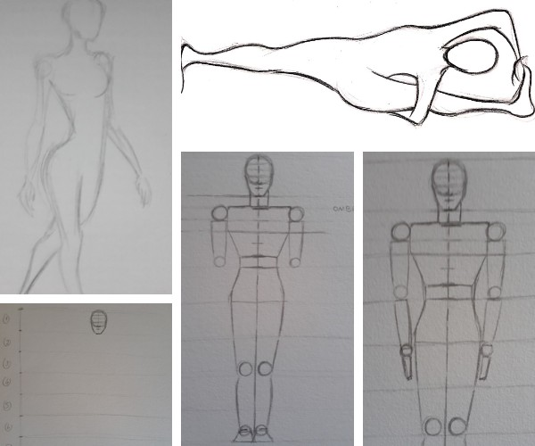 desenho de corpo humano - Desenhar Passo a Passo: principais etapas de aprendizado