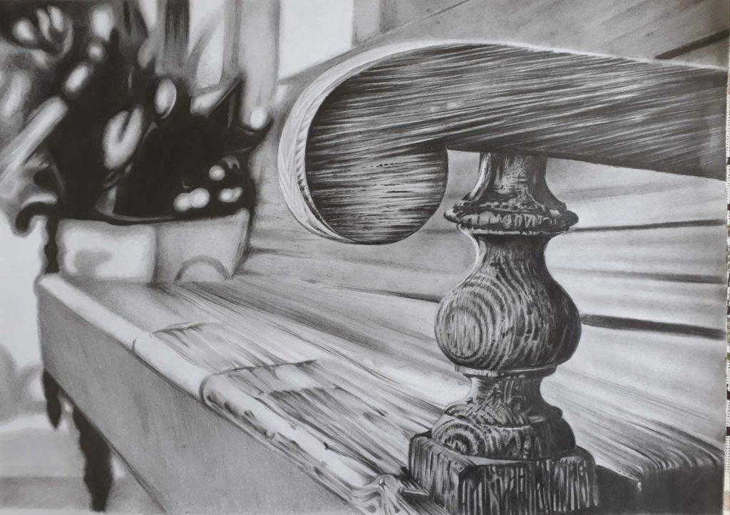 desenho realista de banco de madeira 1024x723 - Desenhar Passo a Passo: principais etapas de aprendizado