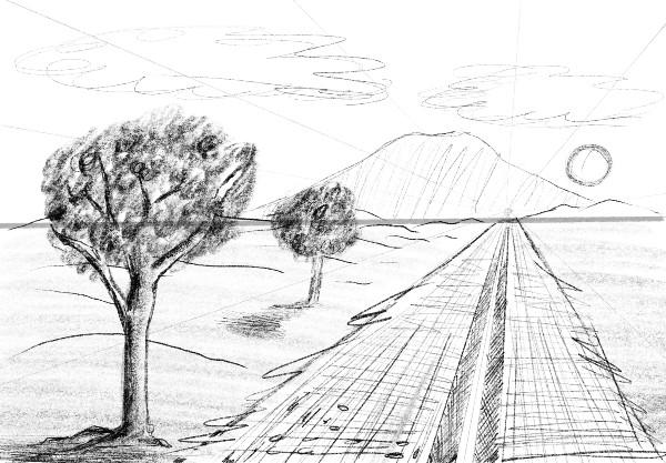 Landscape 1 - 6 dicas de como desenhar paisagem - fácil e descomplicado